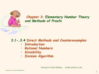 Chapter 3:  Elementary Number Theory and Methods of Proofs