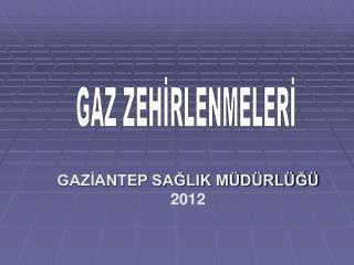 GAZİANTEP SAĞLIK MÜDÜRLÜĞÜ 2012