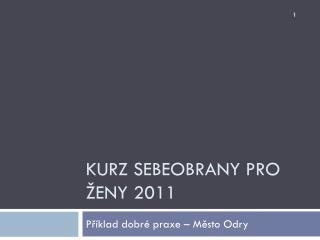 Kurz sebeobrany pro ženy 2011