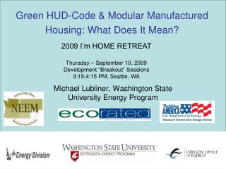 Green HUD-Code & Modular Manufactured Housing: What Does It Mean?