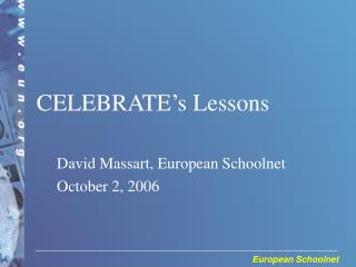 David Massart, European Schoolnet October 2, 2006