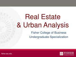 Real Estate & Urban Analysis