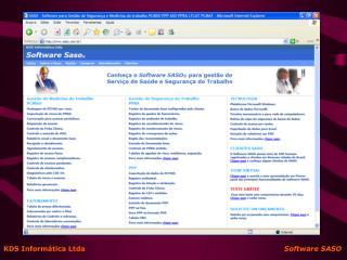 KDS Inform tica Ltda                                                                                       Software SASO