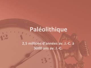 Pal�olithique