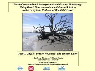 South Carolina Beach Management and Erosion Monitoring: