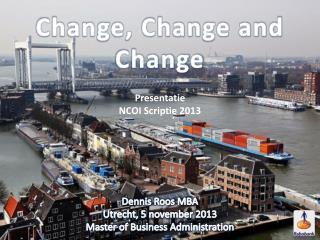 Presentatie  NCOI Scriptie 2013