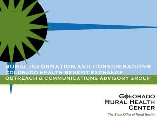 Colorado�s  nonprofit State Office of Rural  Health