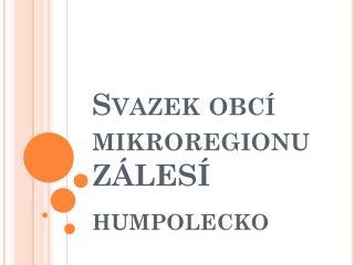 Svazek obcí mikroregionu ZÁLESÍ