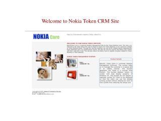 Welcome to Nokia Token CRM Site