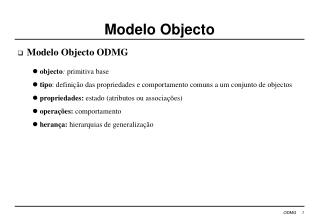Modelo Objecto