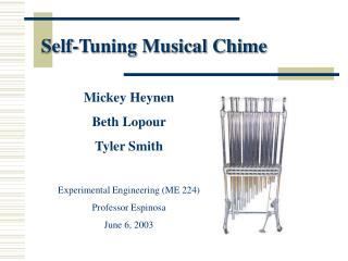 Self-Tuning Musical Chime