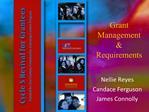 Grant Management  Requirements