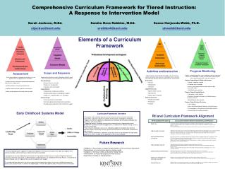 Comprehensive Curriculum Framework for Tiered Instruction:  A Response to Intervention Model