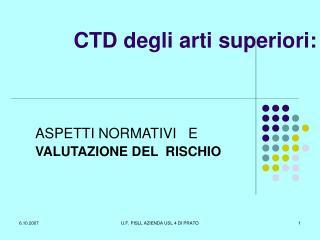 CTD degli arti superiori: