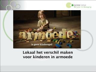 Lokaal het verschil maken  voor kinderen in armoede