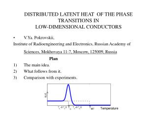 DISTRIBUTED LATENT HEAT  OF THE PHASE TRANSITIONS IN   LOW-DIMENSIONAL CONDUCTORS