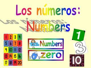 Los números: Numbers