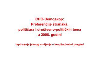 CRO-Demoskop: Preferencije stranaka,  političara i društveno-političkih tema u 2006. godini