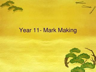 Year 11- Mark Making