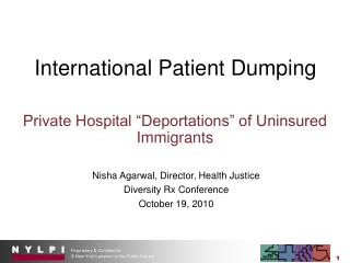 International Patient Dumping