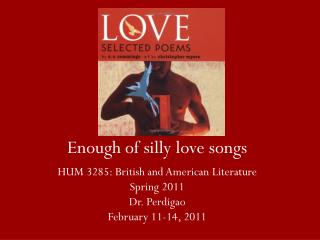 Enough of silly love songs