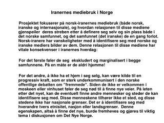 Iranernes mediebruk i Norge