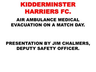 KIDDERMINSTER HARRIERS FC.