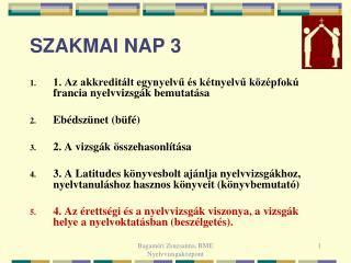 SZAKMAI NAP 3