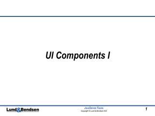 UI Components I