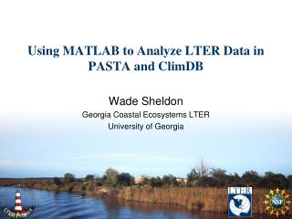 Using MATLAB to Analyze LTER Data in PASTA and ClimDB