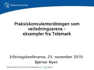 Praksiskonsulentordningen som veiledningsarena –  eksempler fra Telemark