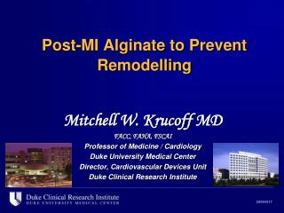 Post-MI Alginate to Prevent Remodelling