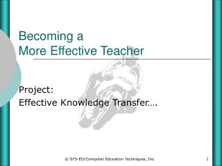 Becoming a More Effective Teacher