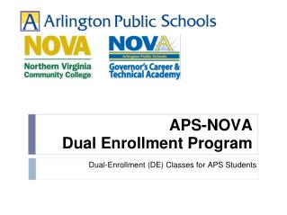 APS-NOVA Dual Enrollment Program
