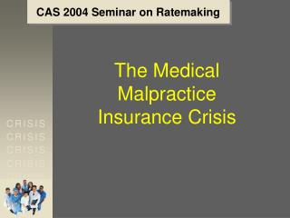 CAS 2004 Seminar on Ratemaking
