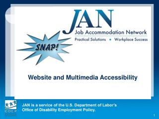 Website and Multimedia Accessibility
