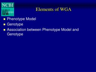 Elements of WGA