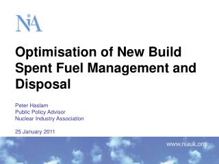 Optimisation of New Build Spent Fuel Management and Disposal