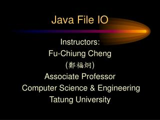 Java File IO