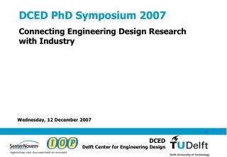 DCED PhD Symposium 2007