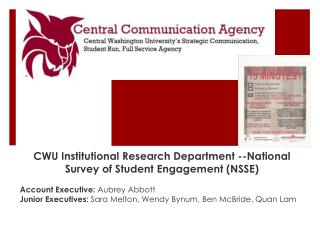 CWU Institutional Research Department --National  Survey of Student  Engagement (NSSE)