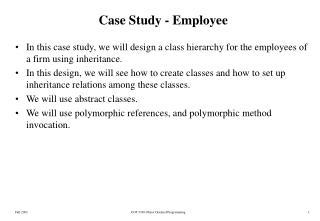 Case Study - Employee