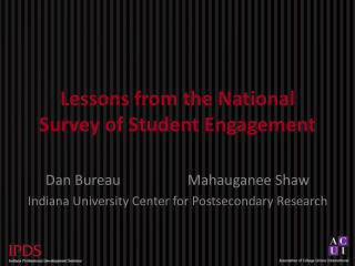 Lessons from the National Survey of Student Engagement