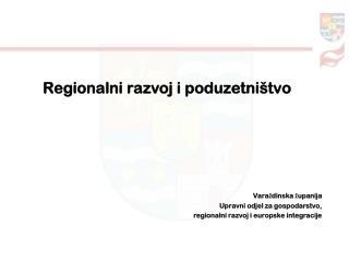 Regionalni razvoj i poduzetni�tvo