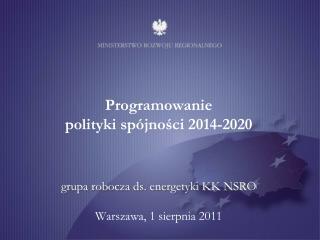 Budżet polityki spójności 2014-2020