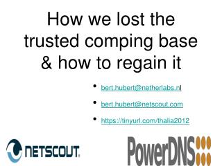 How we lost the trusted comping base & how to regain it