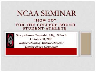 NCAA Seminar