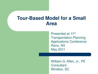 Tour-Based Model for a Small Area