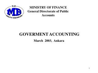 GOVERMENT ACCOUNTING March   200 3 ,   Ankara