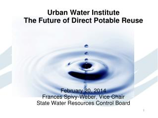 Urban Water Institute The Future of Direct Potable Reuse February 20, 2014
